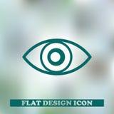 Icône d'oeil Conception web Images stock