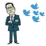 Icône d'oiseau de James Comey et de Donald Trump Illustration de vecteur de dessin animé 12 juin 2017 Photo libre de droits