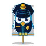 Icône d'oiseau de police Images libres de droits