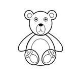 Icône d'ours de nounours Photographie stock