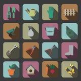 Icône d'outils de jardin illustration libre de droits