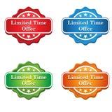 Icône d'étiquette d'offre de temps limité Image libre de droits