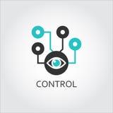 Icône d'unité de surveillance d'oeil, concept de contrôle Photographie stock
