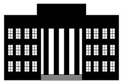 icône de bâtiment Photos libres de droits