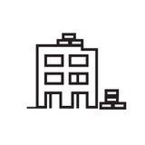 icône de bâtiment Images stock