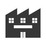 Icône de bâtiment d'usine Conception d'industrie Dessin de vecteur Photos libres de droits