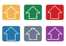Icône de bâtiment et de maison Photos stock