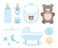Icône de bébé réglée/substance d'enfant Illustration Stock