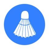 icône de badminton Icône simple de sport de la grande forme physique, saine, séance d'entraînement illustration de vecteur