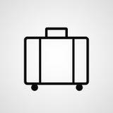 Icône de bagage ou de bagages illustration stock