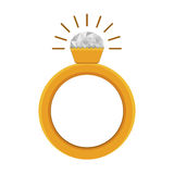 Icône de bague à diamant Photographie stock libre de droits