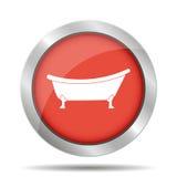Icône de baignoire Photographie stock libre de droits