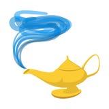Icône de bande dessinée d'Aladdin de lampe illustration de vecteur