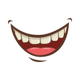 Icône de bande dessinée de bouche illustration stock