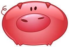 Icône de bande dessinée de porc Image libre de droits