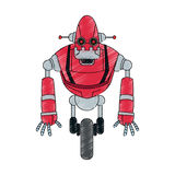 Icône de bande dessinée de robot illustration stock