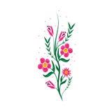 Icône de bandes de fleurs Image stock