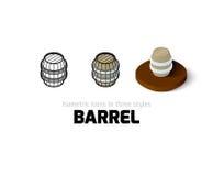 Icône de baril dans le style différent Images stock
