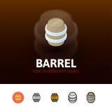 Icône de baril dans le style différent Image stock