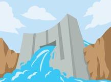 Icône de barrage Image libre de droits