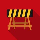Icône de barricade de construction dans le style plat sur le fond blanc Vecteur d'actions de symbole de construction et de répara Illustration Stock