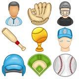 Icône de base-ball - sport Images stock