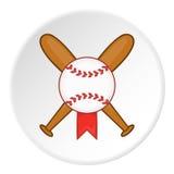 Icône de batte de baseball et de boule, style de bande dessinée illustration de vecteur