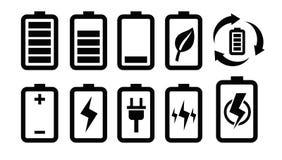 Icône de batterie Photo stock