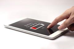 Icône de batterie de pressing de main Image libre de droits