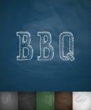Icône de BBQ Illustration tirée par la main de vecteur Photographie stock libre de droits