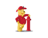 Icône de Bear de sapeur-pompier illustration stock