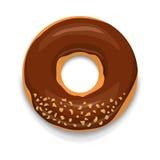Icône de beignet de chocolat, style de bande dessinée illustration de vecteur