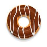 Icône de beignet de chocolat, style de bande dessinée illustration libre de droits