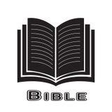Icône de bible d'isolement sur le fond blanc Photographie stock libre de droits