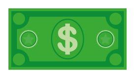 Ic?ne de billet de banque de devise du dollar, illustration courante de vecteur Ic?ne de devise du dollar dans le style plat Arge images libres de droits
