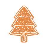 Icône de biscuit Conception de Joyeux Noël Dessin de vecteur illustration libre de droits