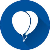 Icône de blanc de ballon Illustration de vecteur Photographie stock libre de droits
