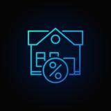 Icône de bleu de propriété de crédit-bail Photos libres de droits