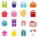 Icône de boîte-cadeau de vecteur Images libres de droits