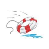 Icône de bouée de sauvetage Photo libre de droits