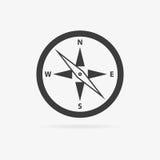 Icône de boussole de vecteur Photos libres de droits