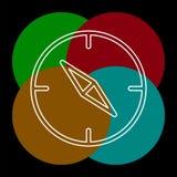 Ic?ne de boussole de vecteur - symbole de navigation - voyage illustration de vecteur