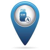 Icône de bouteille de gaz de camping Photo stock