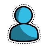 icône de bouton de silhouette d'utilisateur Photo libre de droits
