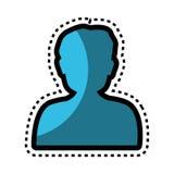 icône de bouton de silhouette d'utilisateur Photo stock