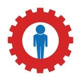 icône de bouton de silhouette d'utilisateur Images libres de droits