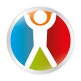 icône de bouton de silhouette d'utilisateur Images stock
