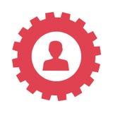 icône de bouton de silhouette d'utilisateur Image libre de droits