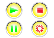 Icône de boutons de media Image libre de droits