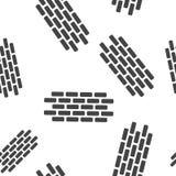 Ic?ne de brique de vecteur Illustration de brique Modèle sans couture de mur de briques sur un fond blanc illustration stock
